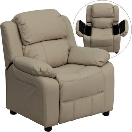 Recliner Chair Walmart by Flash Furniture Vinyl Recliner With Storage Arms