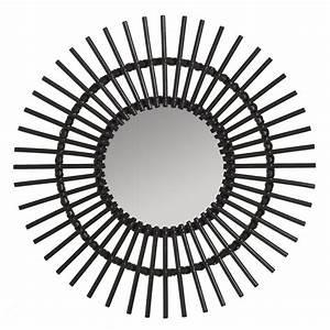 Miroir Rotin Noir : miroir rotin laqu noir vintage soleil miroir rotin kok maison ~ Melissatoandfro.com Idées de Décoration