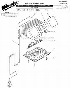Milwaukee 48-59-0245 Parts List And Diagram