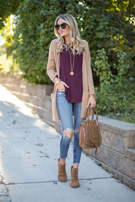 Tan Cardigan + Side Cutout Booties | Blonde Expeditions