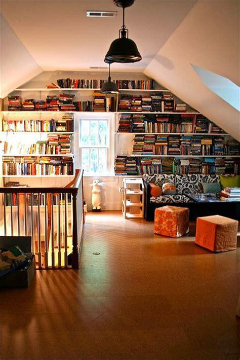 attic library design attic library decorations