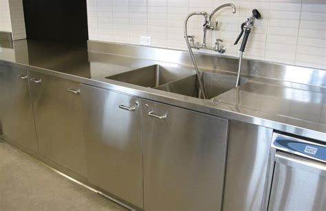 clean commercial stainless steel sink  homy design