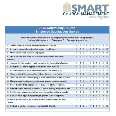 employee survey downloadable church forms