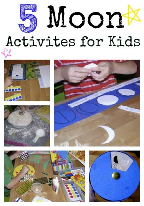 five moon activities for 349 | moon collage x