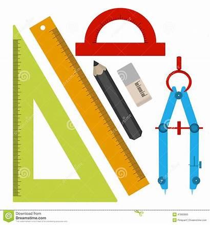 Compass Tools Square Pencil Flat Protractor Eraser
