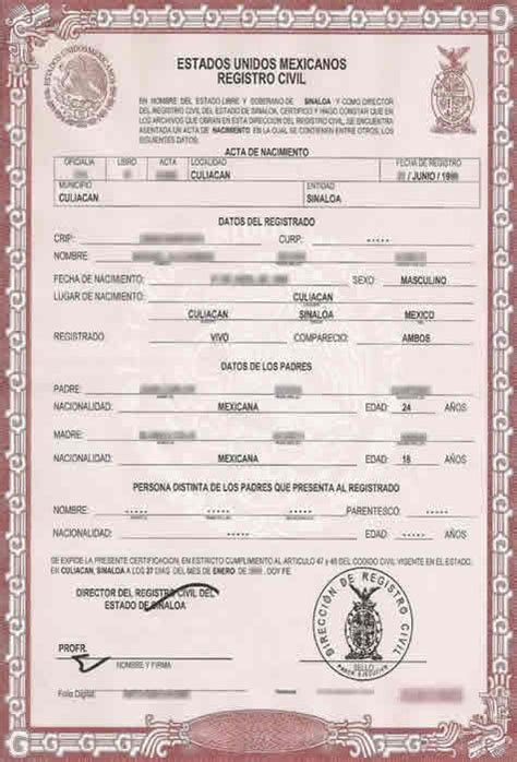 Mexican Marriage Certificate Template by Birth Certificate Translation Services For Uscis Fast And