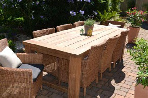 Teak Sitzgruppe Garten Garnitur Tisch (240x100) Und 8
