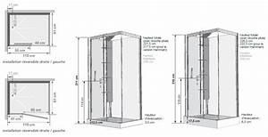 cabine de douche horizon 110 receveur faible hauteur porte With porte de douche coulissante avec grille vmc salle de bain
