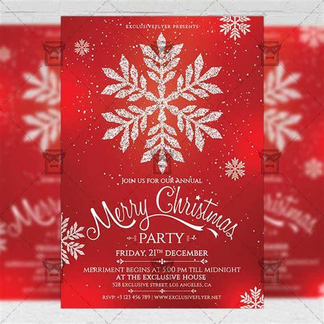 Christmas Invitation Seasonal A5 Flyer Template