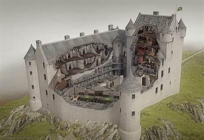 Castle Kilchurn Cutaway Reconstruction Castles Medieval Scotland