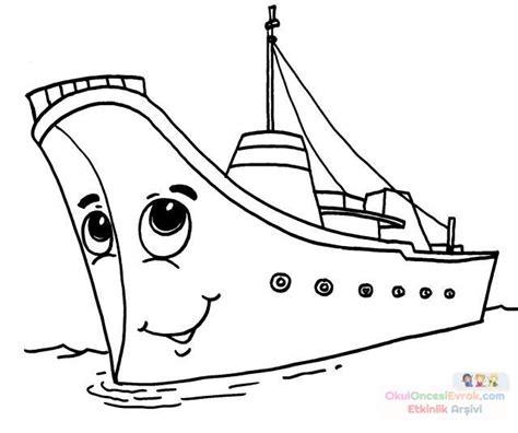 Tekne Boyama by Gemi Boyama Sayfası Preschool Activity