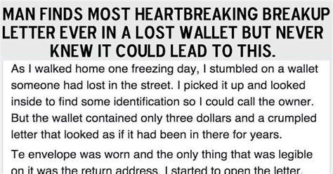 man finds  heartbreaking breakup letter    lost