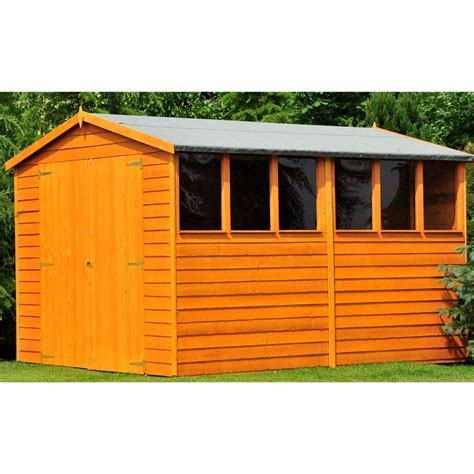 10ft X 6ft Shed by Shedswarehouse Stowe Overlap 10ft X 6ft 2 99m X 1