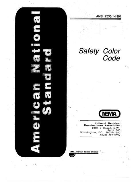 ANSI Z535.-1991-Safety Color Code