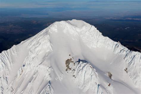 mount hood oregans highest mountain aerial view