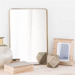 Spiegel Rund 50 Cm : spiegel aus metall vergoldet d 50 cm ferao maisons du monde ~ Indierocktalk.com Haus und Dekorationen