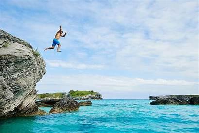 Cliff Bermuda Jumping Dive Castle Island Cove