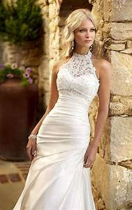 30 simple lace wedding dresses ideas to look stunning for No lace wedding dress