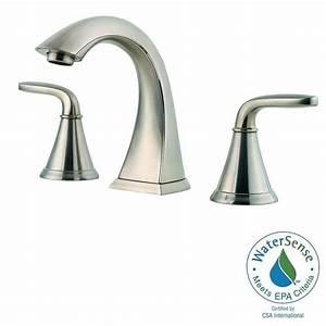 pfister pasadena 8 in widespread 2 handle high arc With pfister pasadena bathroom faucet