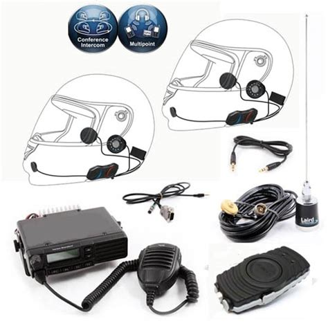 Airboat Intercom Headsets by 2 Place Wireless Intercom System Set Up For 2 Way Radio