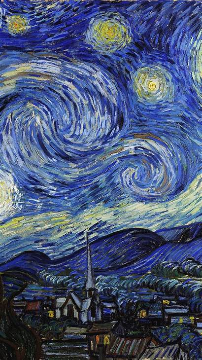 Gogh Aesthetic Night Starry Painting Vincent Paintings