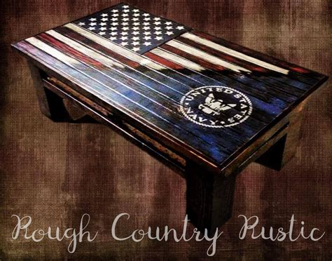 Here is a 48 x 26 3/4 american flag coffe table or decorative mantle piece. Deluxe Home Defense Coffee Table (Charred American Flag with Torn ... | Wood furniture design ...