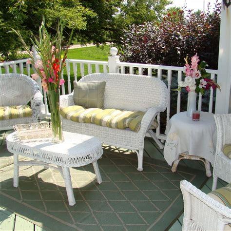 white wicker patio furniture outdoor white wicker furniture on