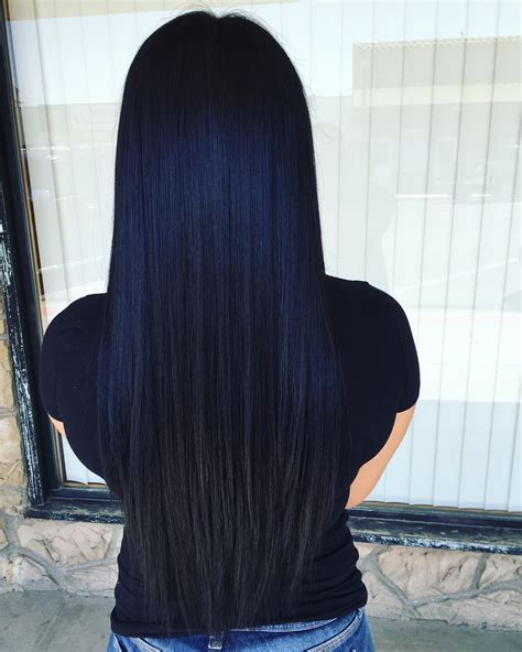Prefect Black Blue Hair Color For Black Hair Dark