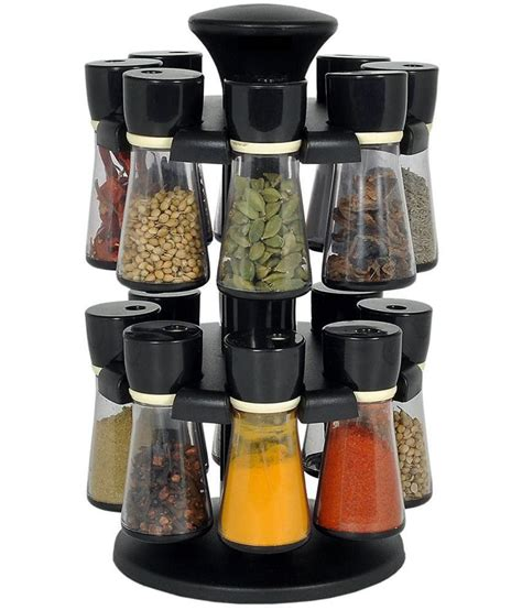 Spice Rack Seasonings by Stardust Polycarbonate Revolving Spice Rack Set 120ml