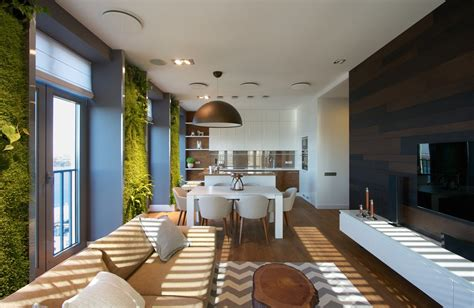 Apartment Interior : Vertical Garden Walls Add Life To Apartment Interior