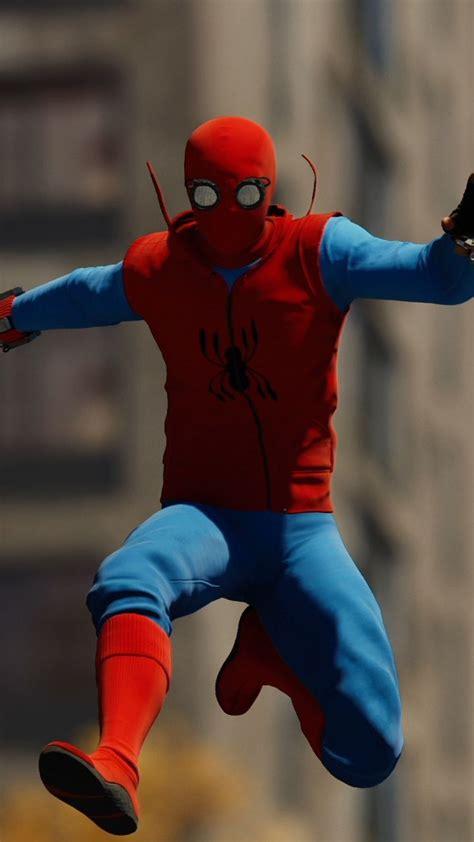 spider suit ps4 720x1280 wallpaper cool stuff