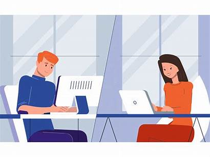 Office Sharing Working Dribbble Communication Workspace Dribble