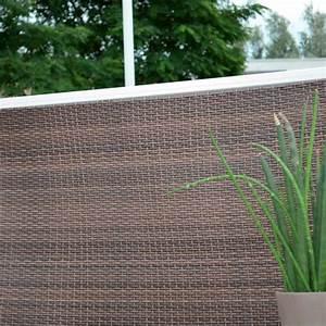 Brise Vue 400g M2 : brise vue balcony 1 x 3 m marron brise vue portail grillage occultation jardin exterieur ~ Melissatoandfro.com Idées de Décoration