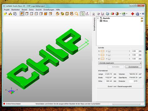 3d Programme Kostenlos by Netfabb Basic Chip