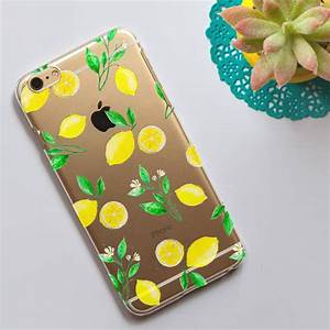 Clear, Phone, Case, With, Lemons, Print, By, Dessi, Designs