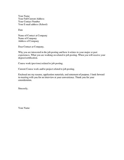 Simple Resume Cover Letter Template by Simple Cover Letter Sles Bravebtr