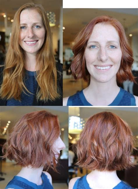 haircut  color    hair makeover red