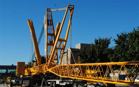 northwest disassembles tower crane  oklahoma state