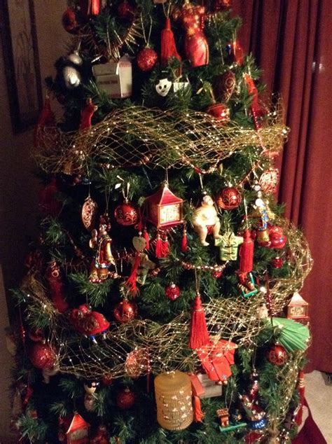 asian themed christmas trees images  pinterest
