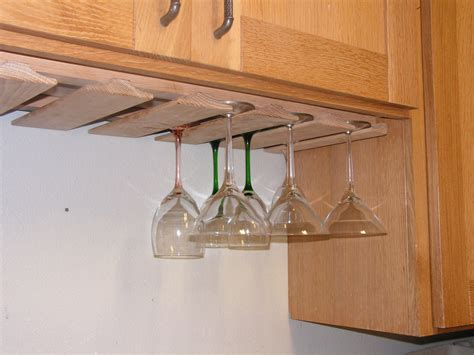 wine glass cabinet rack wine glass rack under cabinet new oak stemware holder