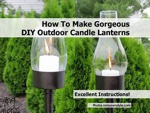 How To Make Gorgeous Outdoor Candle Lanterns