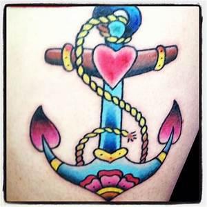 Old school anchor tattoo | Tattoos⭐ | Pinterest