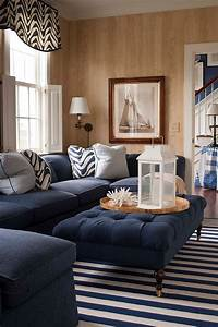 50 tufted and upholstered coffee tables for the cozy for Navy blue living room