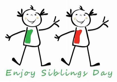 Clipart Sibling Siblings Happy Enjoy Animations National
