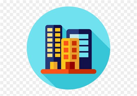 Office Building Flat Icon