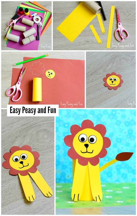 Paper Roll Lion Craft  Toilet Paper Roll Crafts Easy