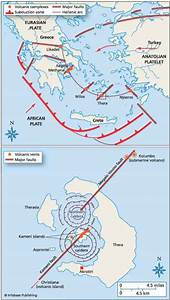 Thera Greece 3650 years before Present - Plate Tectonics
