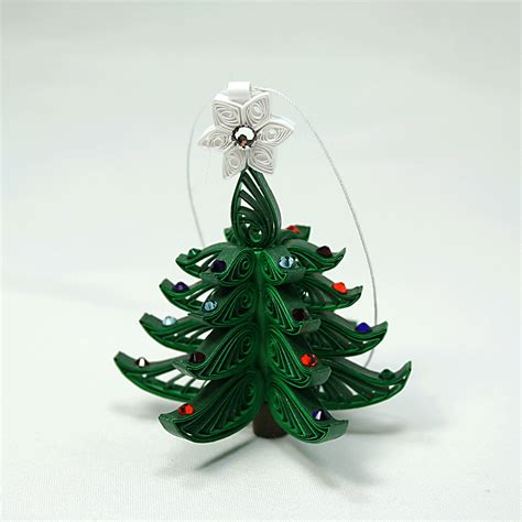 christmastree ornament a wonderful quilled by