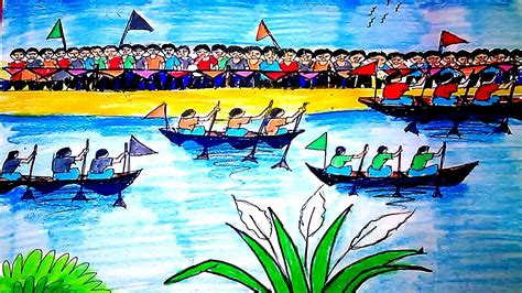 How To Draw A Boat Race by How To Draw A Boat Race Step By Step A Best