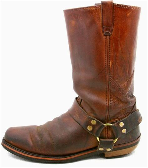 mens brown motorcycle boots mens harness motorcycle biker boots size 10 ee brown